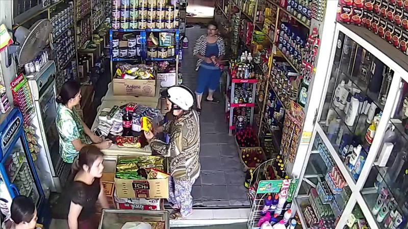 Một góc thu hình của camera tại cửa hàng