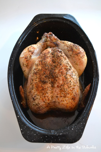 Oven Roasted Chicken:  How to Roast a Chicken {A Pretty Life}