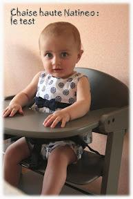 Chaise haute en bois netsy de natineo le test cubes - A quel age mettre bebe dans la chaise haute ...