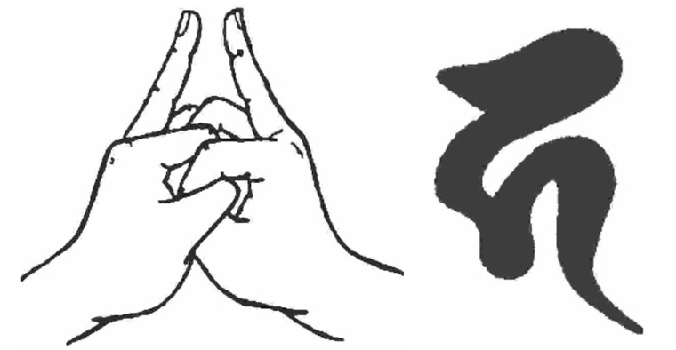 mudra dan aksara Ksitigarbha