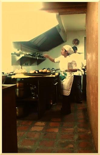 Cocinera en el Restaurant Toscano de El Hatillo