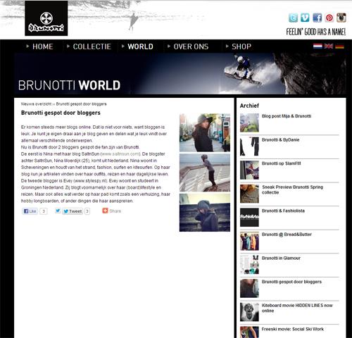 Style Spy in de pers bij Brunotti