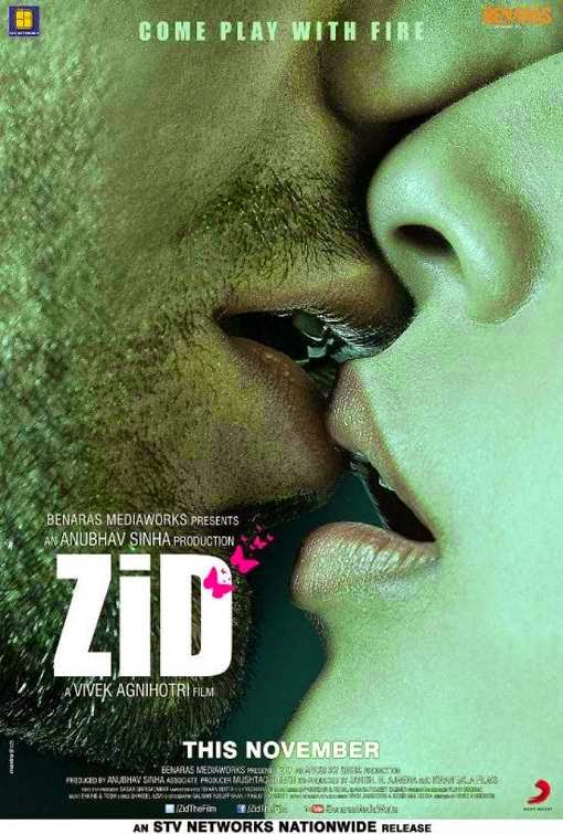Poster Of Hindi Movie Zid (2014) Free Download Full New Hindi Movie Watch Online At alldownloads4u.com