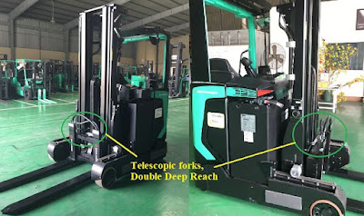 Reach truck double deep Mitsubishi Telescopic