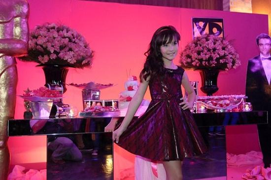 Festa cor de rosa de Larissa Manoela - Maria Joaquina do Carrossel