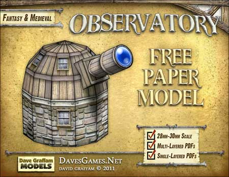 WOoden Observatory Papercraft