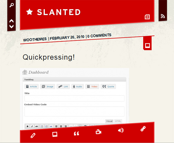 Slanted Simple Tumblr Style WordPress Theme