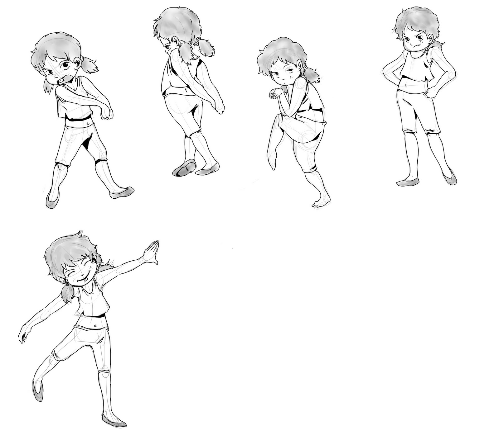 Character Design Poses : A character design story turn around and poses