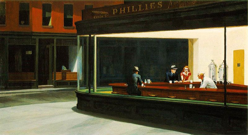 Traditional-Modern Art - Edward Hopper, Nighthawks