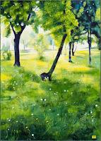 Fű, fa, virág  2013  -  olaj-vászon  70x50