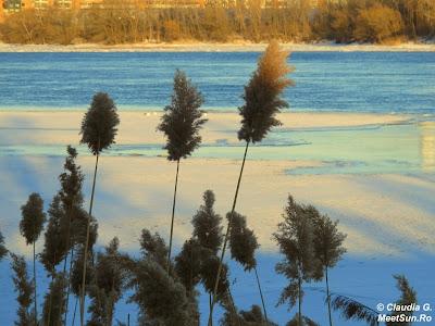 iarna pe malul fluviului Saint-Laurent
