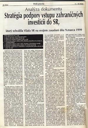 Rudolf Vaský, stratégia podpory vstupu zahraničných investícií