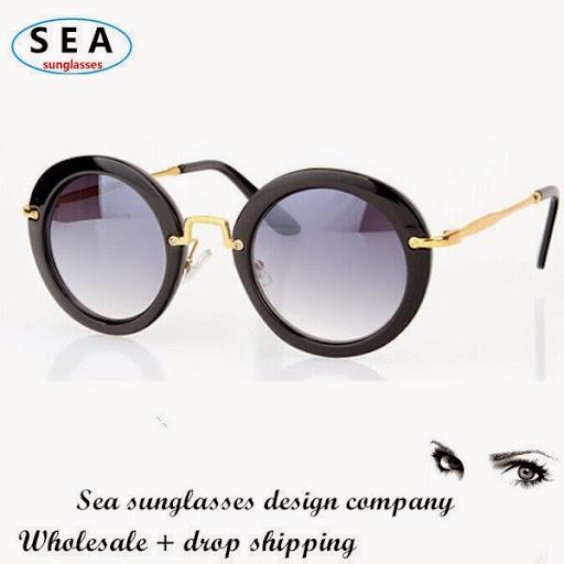 SEA Brand design men round sunglasses women gafas oculo