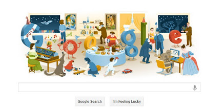 """New Year's Eve 2012 Google Doodle"""