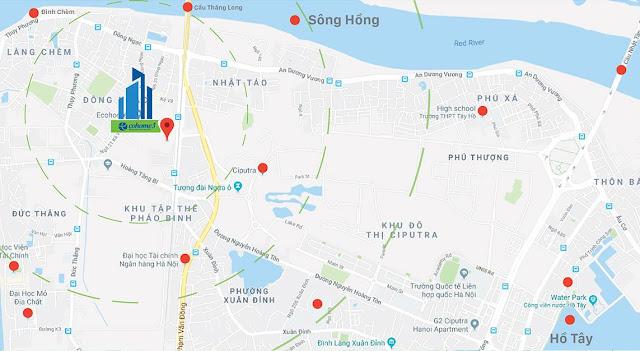 Vị trí Dự án Ecohome 3 Đông Ngạc kết nối dự án chung cư nhà ở xã hội Hà Nội