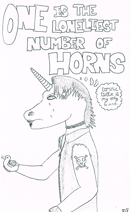 Emo Unicorn - One Is The Loneliest Number of Horns