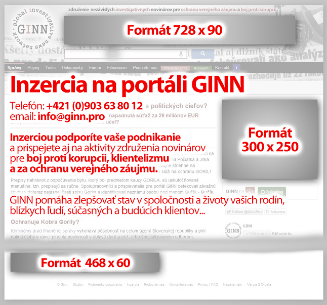 Inzercia na GINN, marketing