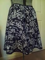 The finished skull skirt!