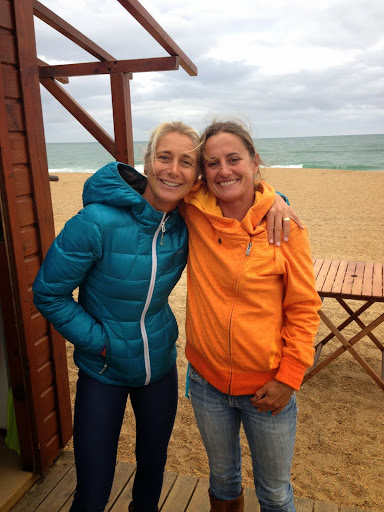 Karine and Emmanuelle, surf goddesses of the Cote Basque. From 100 Places in France Every Woman Should Go
