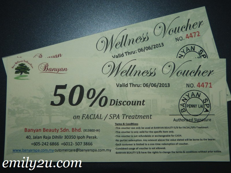 50% Discount Vouchers @ Banyan Spa Ipoh  Free Discount Vouchers