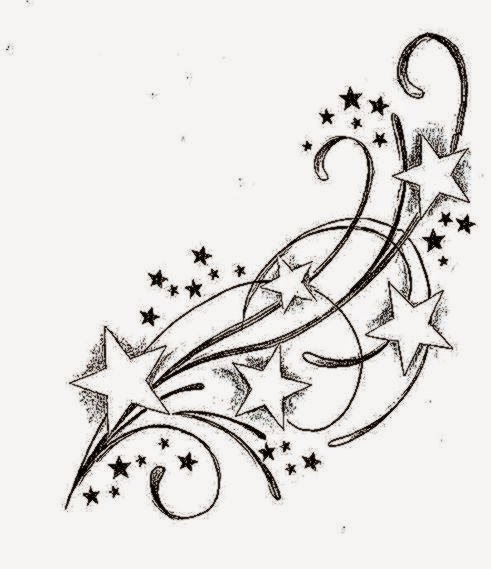 Star Tattoo Designs on Pinterest  owl tattoos shooting star