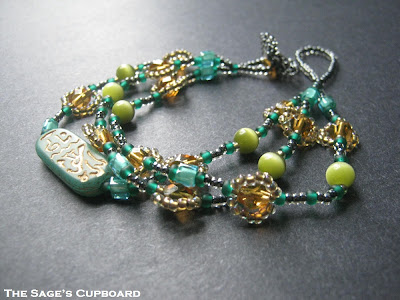 Jade Three Strand Bracelet