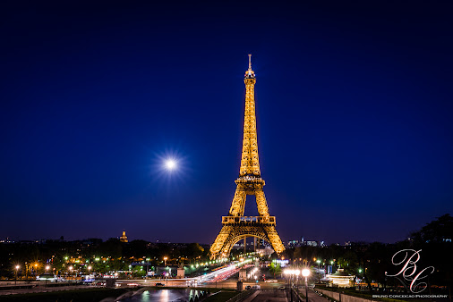 From Paris with love PARIS!!  At the time she is giving her best, at Night!! Majestic Eiffel Tower at...