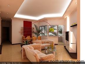 Mẫu thiết kế nội thất phòng khách 323