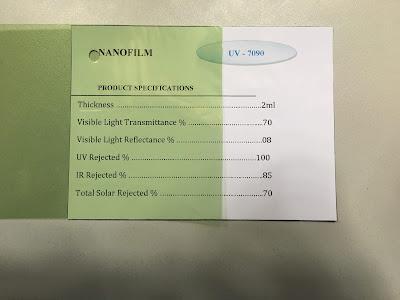phim chong nang cach nhiet van phong UV 7090