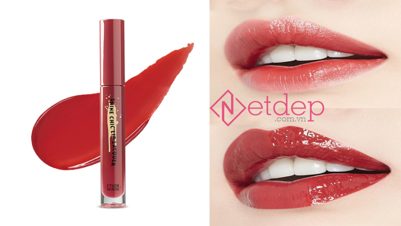 Son Etude House x Red Velvet Shine Chic Lip Lacquer RD301 Rose Coco