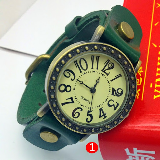 woman and man Dress Watches Vintage Leather Fashion Qua