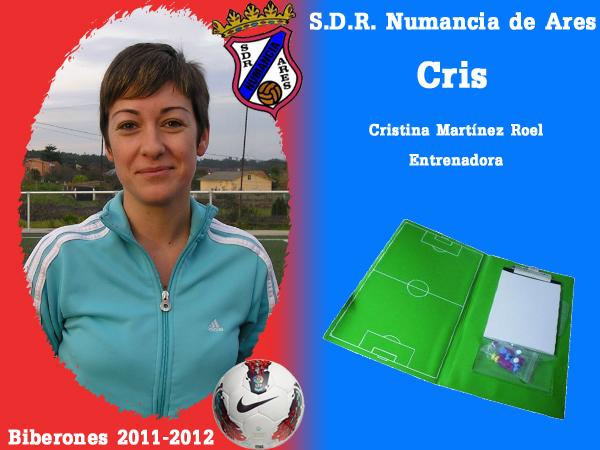A. D. R. Numancia de Ares. Biberones 2011-2012. Cris. Entrenadora