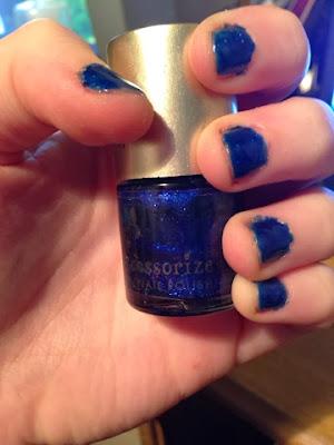 Accessorize Blue Nail Polish
