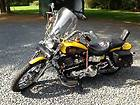 CUSTOM 1999 HARLEY DAVIDSON FXDWG YELLOW AND BRONZE PEARL WITH FLAME THEME