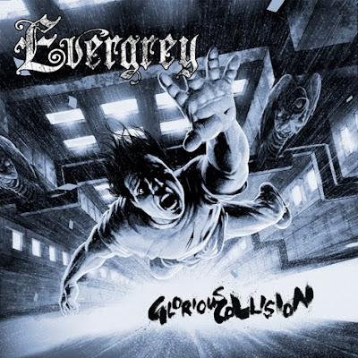 "Couverture de l'album intitulé ""Glorious Collision"" par Evergrey, un style Heavy Metal"