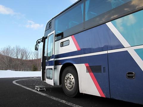 道北バス「流氷もんべつ号」 1026 比布大雪パーキングエリアにて その3