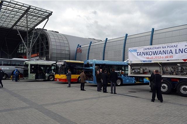 TransExpo 2012. Ekspozycja autobusów gazowych marki Solbus
