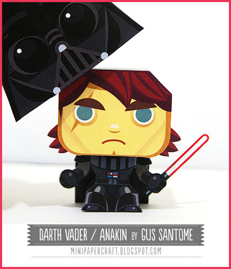 Mini Darth Vader Paper Toy
