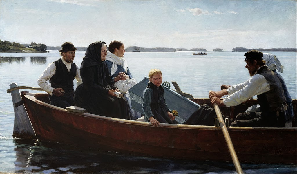 Albert Edelfelt - Conveying a Child's Coffin - Google Art Project