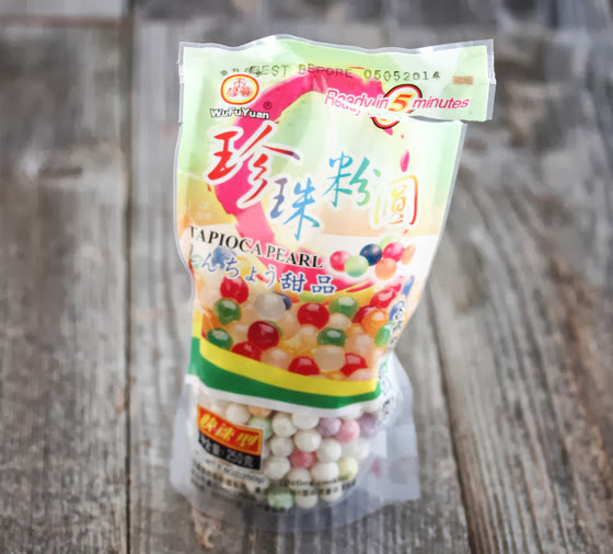 package of tapioca pearls