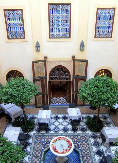 Typical courtyard inside a riad