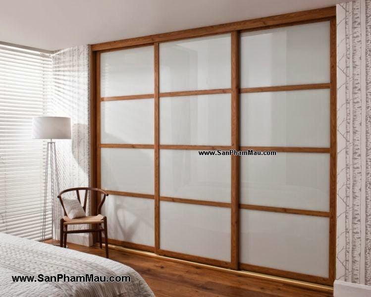 Tủ âm tường gỗ cánh kính