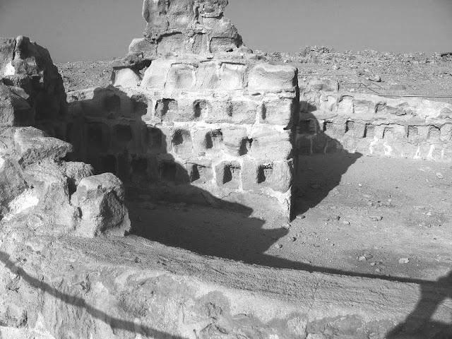 The interior of Masada.