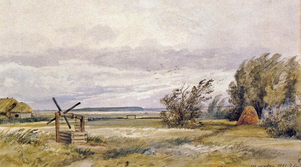 Ivan Shishkin - Shmelevka. Windy day