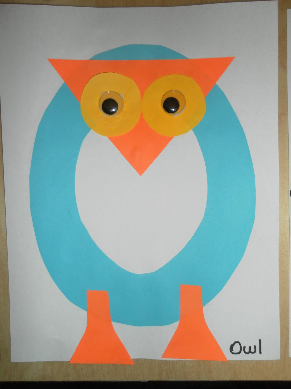 ... pages in our Craft Alphabet book, O is for Owl and o is for ostrich