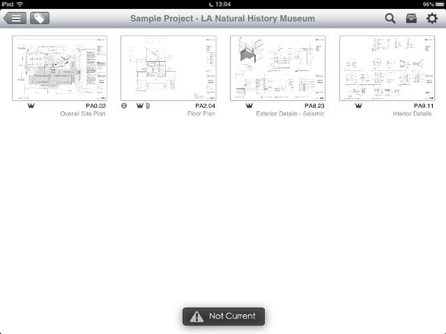 Apps de Cosntrucción - PlanGrid vista de planos de proyecto