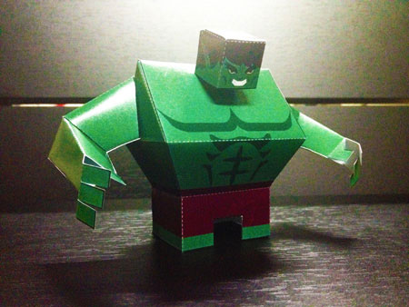 The Hulk Paper Toy Brute