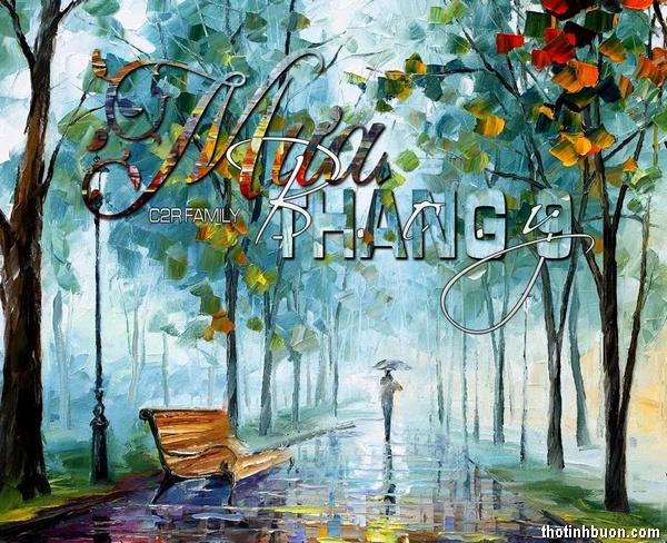 Thơ mưa tháng 9 buồn, tình thơ Mưa tháng Chín lạnh lẽo, cô đơn