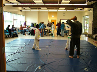 Due to a scheduling mixup, we arrived to find karate classes in full swing!