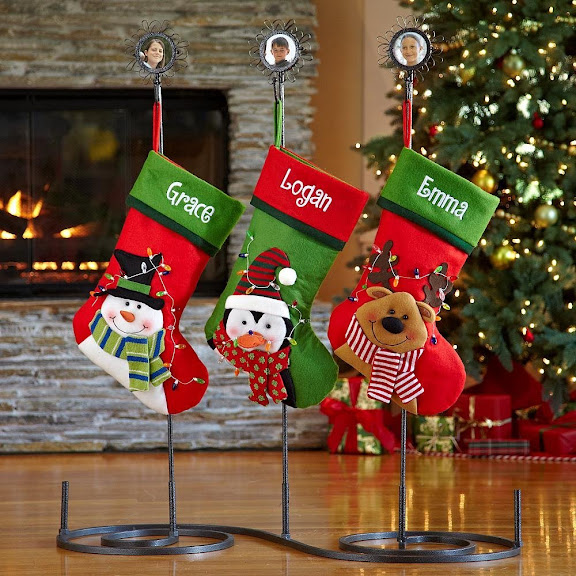 Personalized Additional Metal Photo Stocking Holder - Christmas Stockings